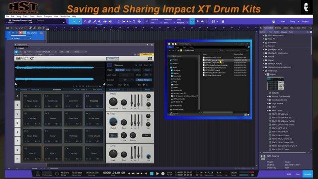 Saving and Sharing ImpactXT Drum Kits