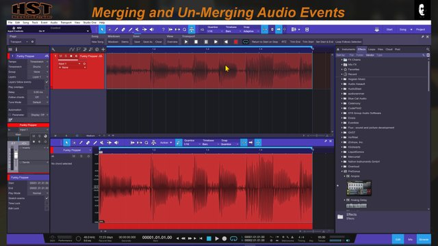 Merging and UnMerging Audio Events