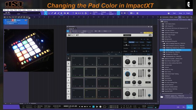 Changing the Pad Color in ImpactXT
