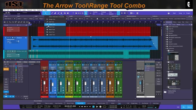 Disconnecting the Arrow Tool-Range Tool Combo