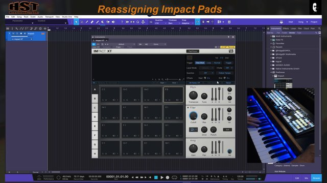 Reassigning ImpactXT Pads