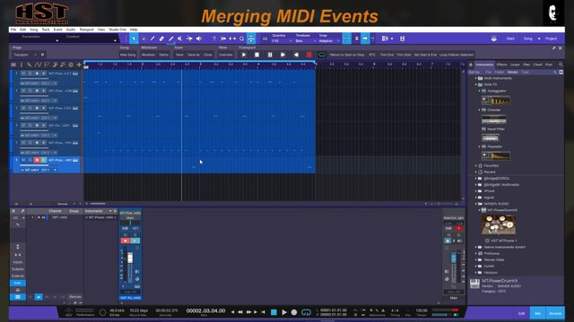 Merging MIDI Events