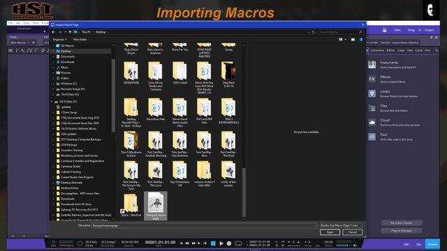 Importing Macros