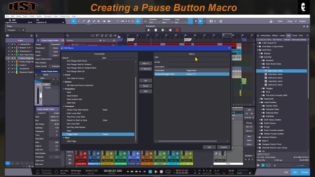 Creating a Pause Button Macro