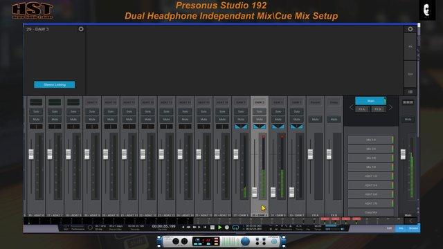 Presonus Studio 192 Cue Mix Setup