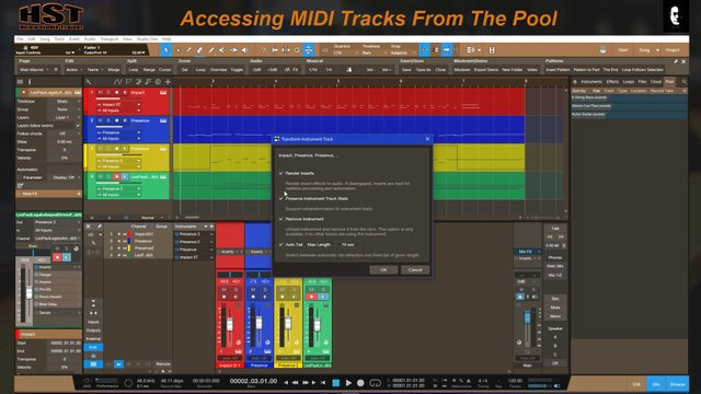 Accessing MIDI Tracks From The Pool