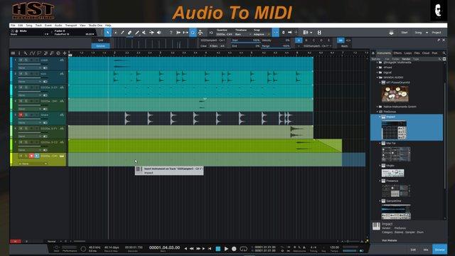 Audio To MIDI