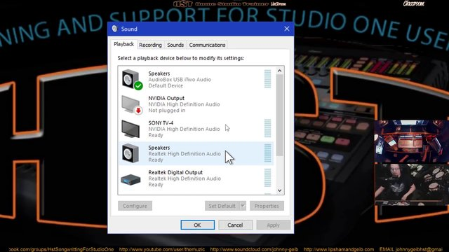 Audio Setup For Studio One and Youtube Audio