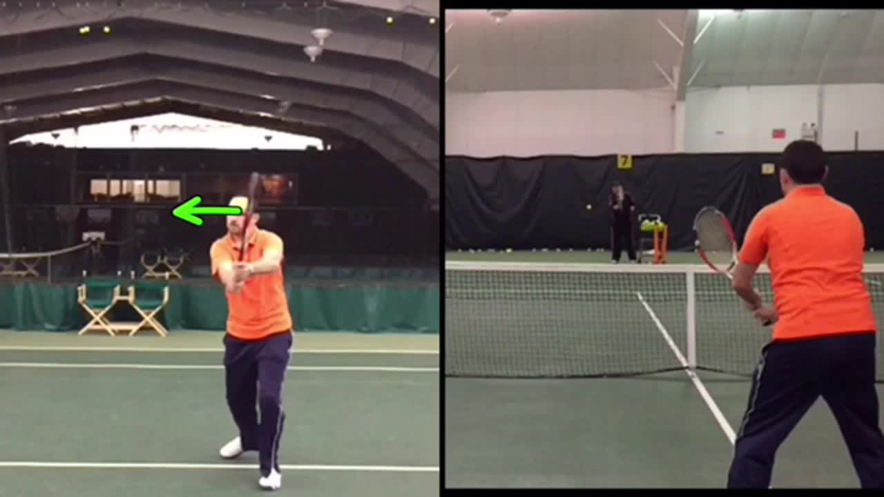 Two Handed Backhand Volley Basics How To Hit The Hard