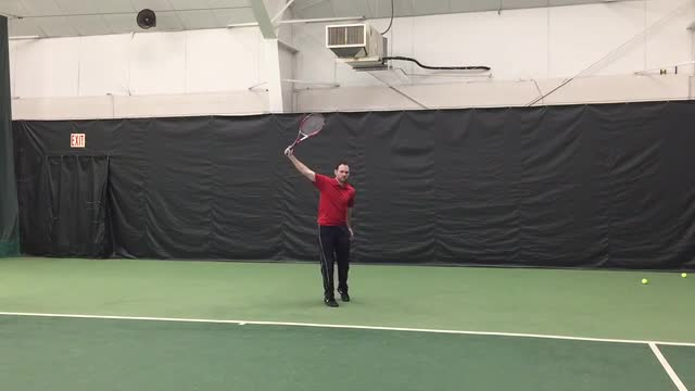 Live Hitting Ground Strokes: Topspin One Handed Backhand