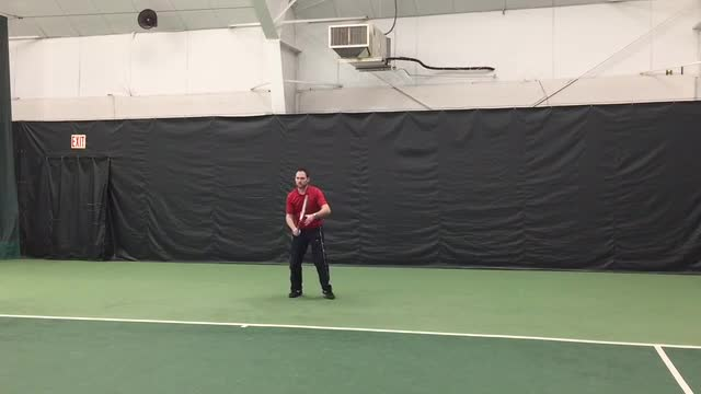 Live Hitting Ground Strokes: Slice One Handed Backhand