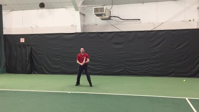 Live Hitting Ground Strokes: Topspin Two Handed Backhand