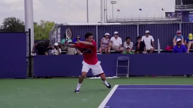 The Perfect Follow Through When You're Late On Your Forehand