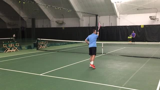 How to Stop Hitting High Volleys into the Net