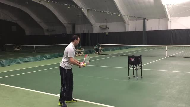 Great Drill to Promote Tossing Forward on your Serve