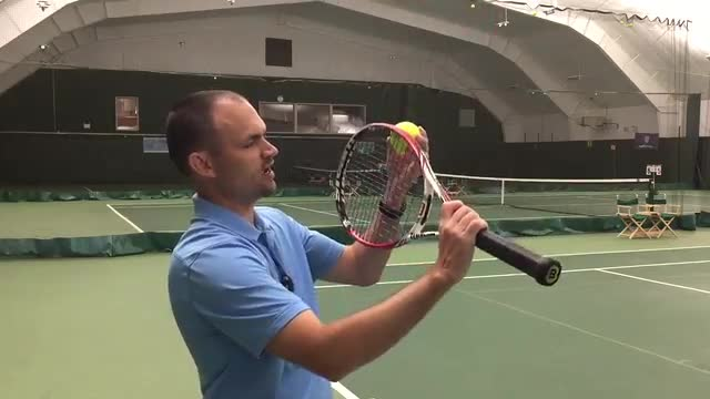 Peel An Apple For A Better Topspin Serve