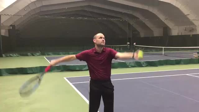 Move Your Arms Like A Bird While Serving