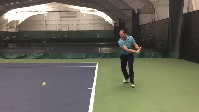 Two Handed Backhand Ground Stroke Demo