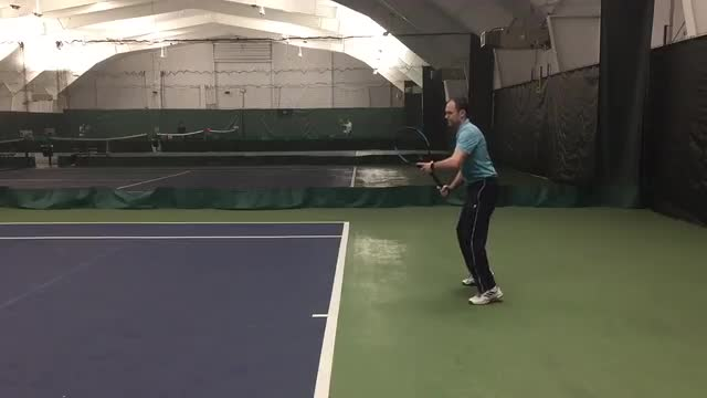 One Handed Backhand Ground Stroke Demo