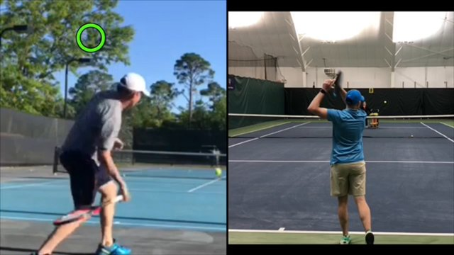 Video Private Lesson: James - Forehand