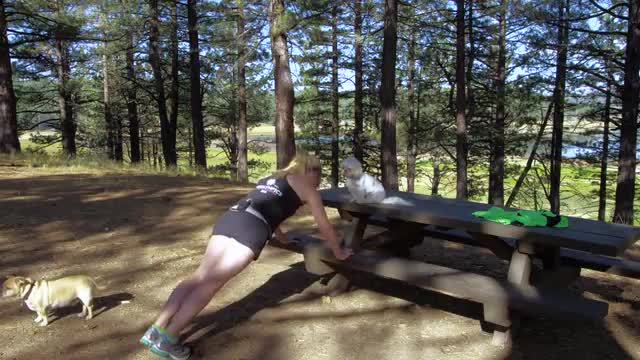Kaia on the Road - Camping Style - Picnic Table