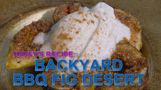 Backyard Fig BBQ Desert - Kaia Kitchen