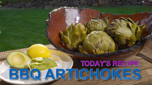 BBQ Artichokes - Kaia Kitchen