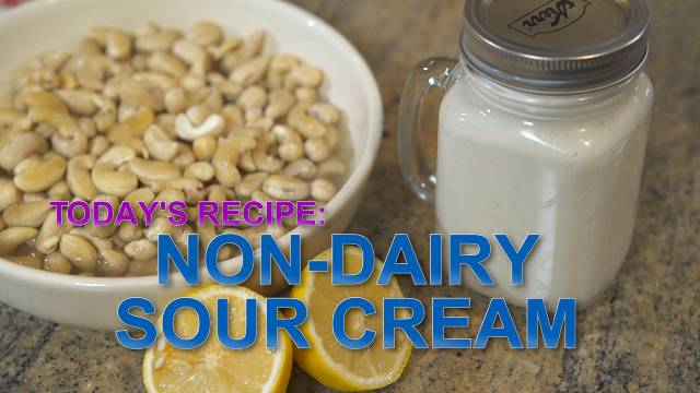 Non-Dairy Sour Cream - Kaia Kitchen