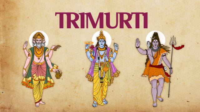 Trimurti - Lord Brahma, Vishnu & Shiva