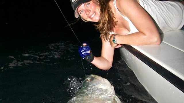 Nighttime Tarpon Fishing in Miami
