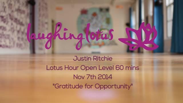 Gratitude for Opportunity