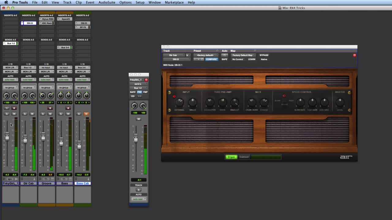 Using DB33 On Guitar And Bass In Pro Tools