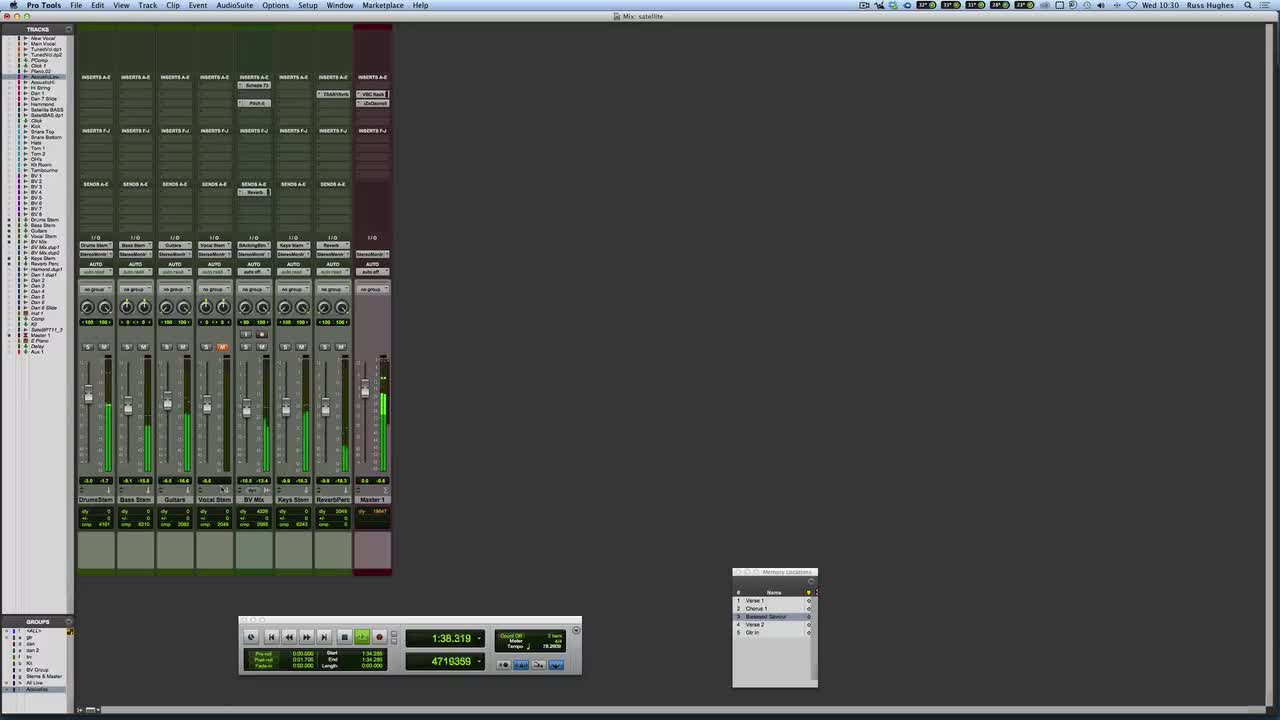Take Control Of Large Pro Tools Sessions Using Groups, Shortcuts And Stems