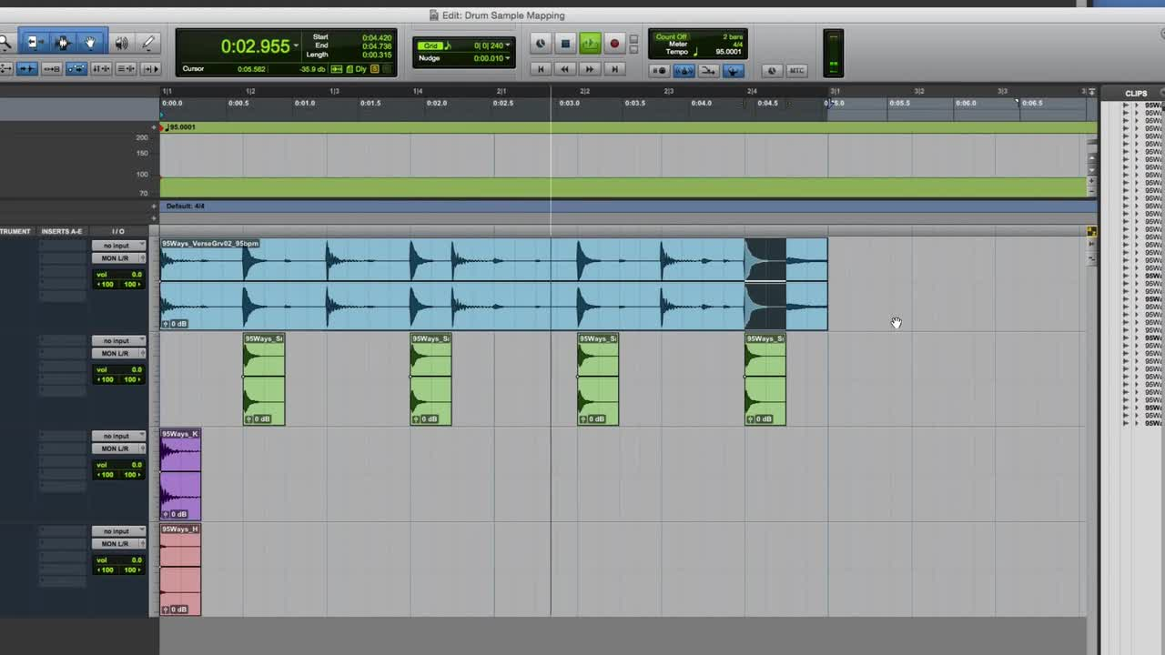 How To Map Drum Samples To A Loop In Pro Tools