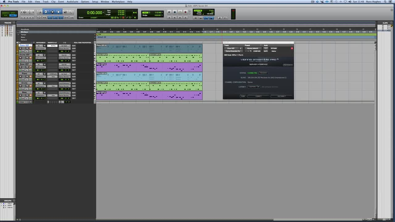 Pro Tools How To Connect Vienna Ensemble Pro Across Ethernet And
