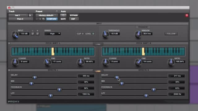 Using The Avid Pitch II Plug-in On Guitars