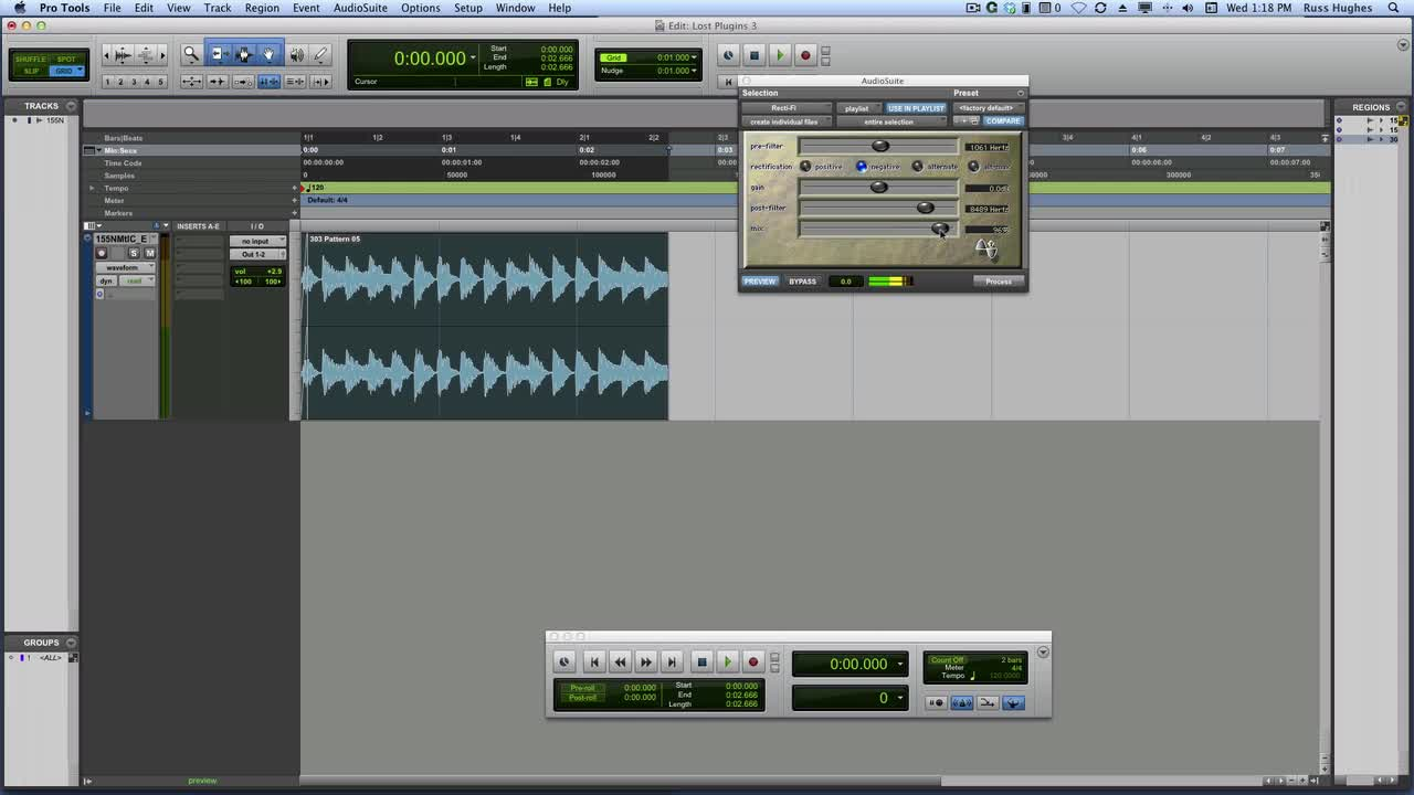 discovering the lost plug ins in pro tools recti fi russ hughes