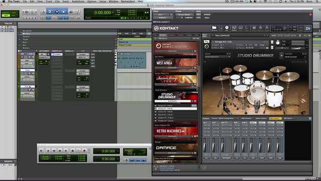 Get Separate Outputs From Studio Drummer In Pro Tools