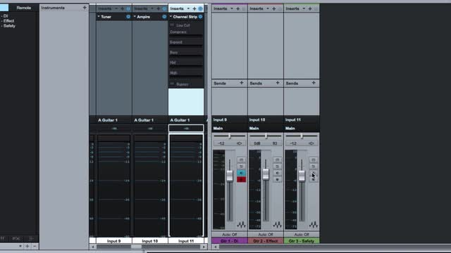 Using Inserts On Input Channels In PreSonus Studio One