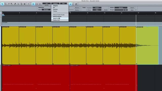Get Loose Audio Into Time In PreSonus Studio One