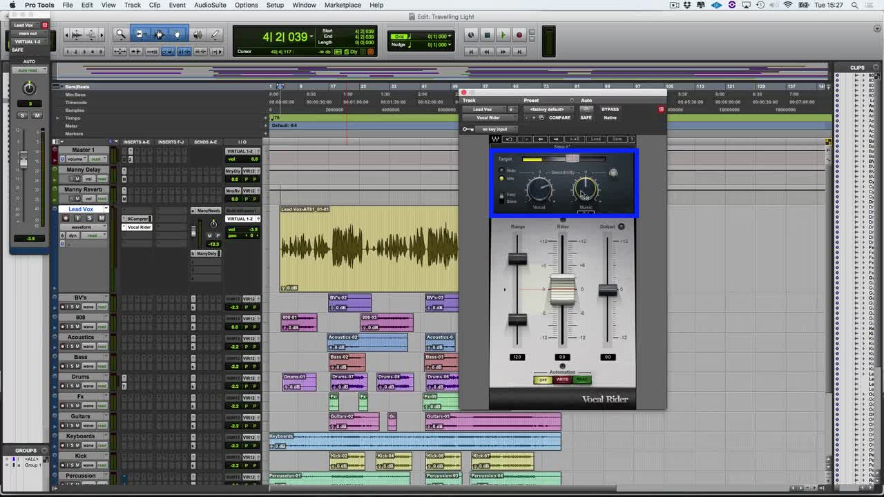 Free Video Tutorial - Waves Vocal Rider | Pro Tools