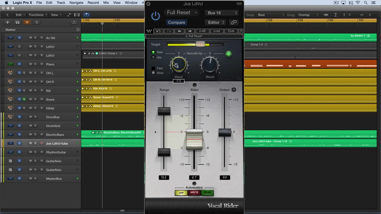 Video Tutorial - How To Use Waves Vocal Rider in Logic Pro X