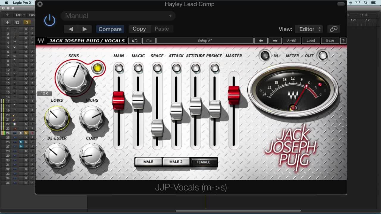 Using Waves JJP Vocals