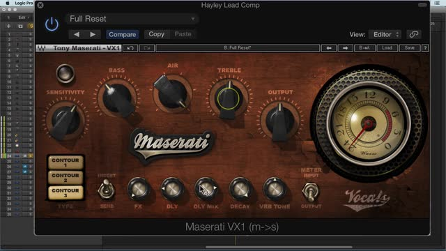 Using Waves Maserati VX1
