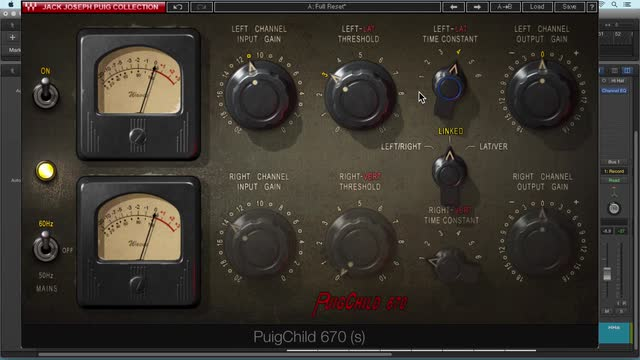 Using Waves PuigChild 670 Compressor