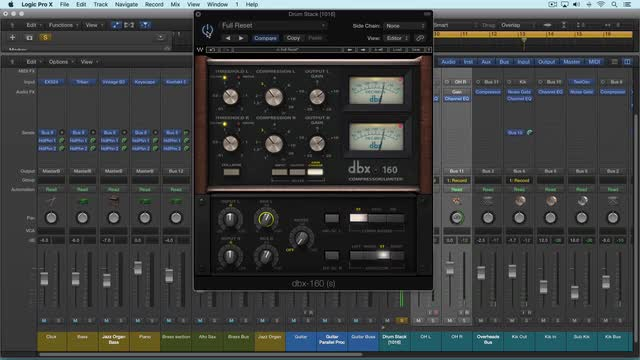 Using Waves DBX 160 Compressor