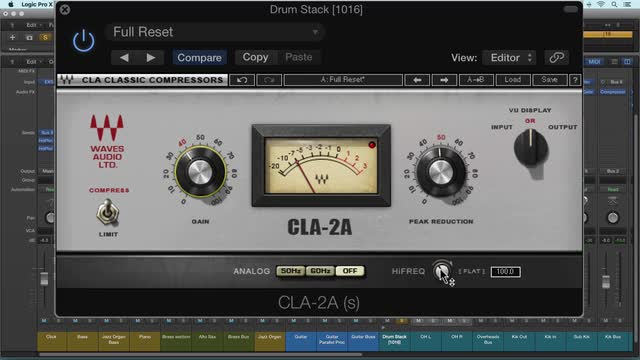 Using Waves CLA 2A Compressor/Limiter