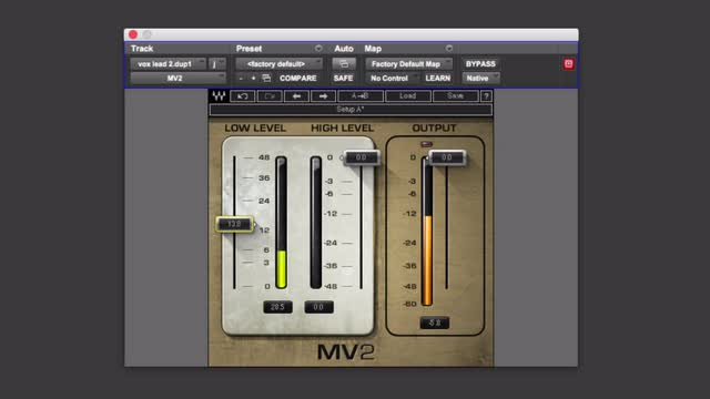 How To Use Waves MV2 Dual Compressor Plug-in
