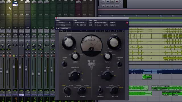 How To Fatten Up Drums Using Waves V-Comp Compressor Plug-in In Parallel