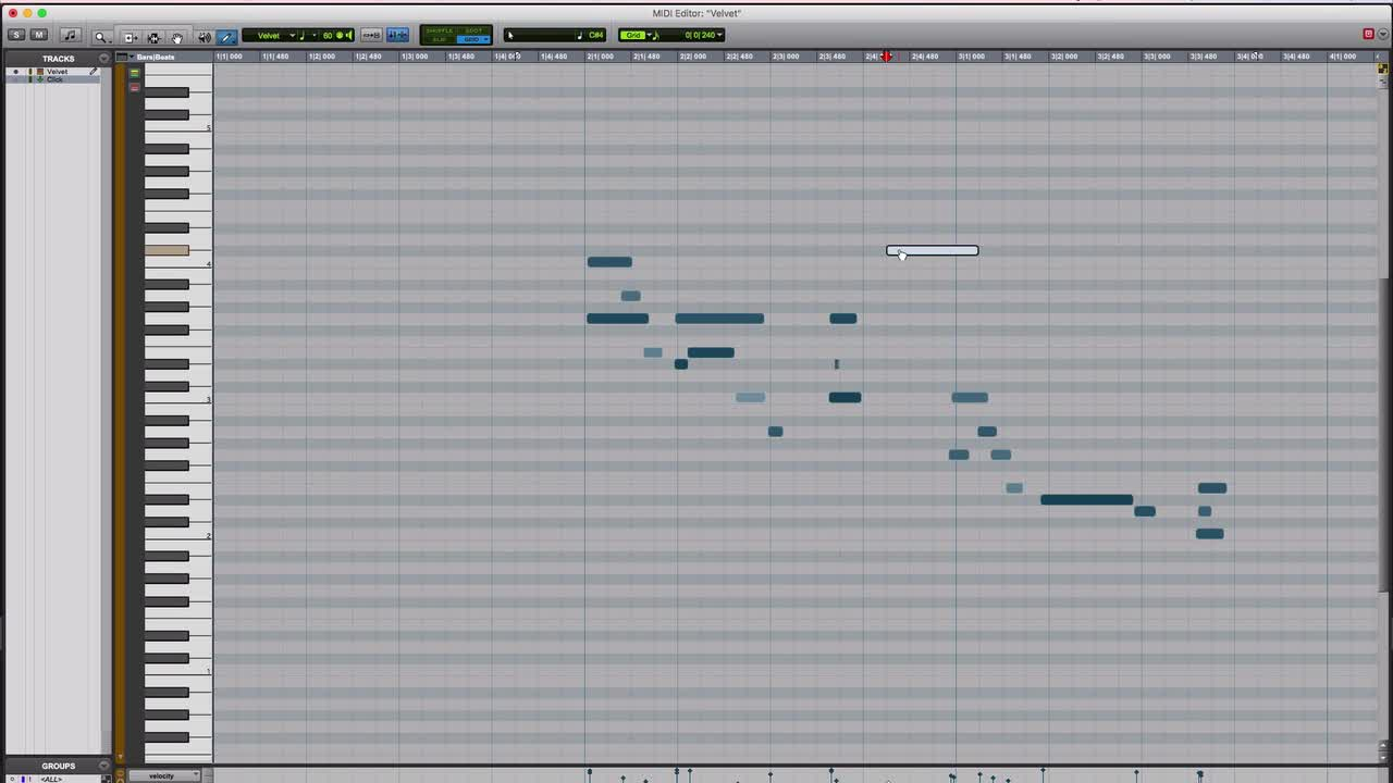 Tutorial - Using The Pencil Tool In The MIDI Editor In Pro Tools